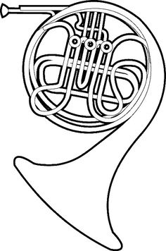 Music Coloring Pages Online Coloring Pages, Animal Coloring Pages, Coloring Pages For Kids, Coloring Books, Music Doodle, Music Crafts, Printable Pictures, Printable Activities For Kids, French Horn
