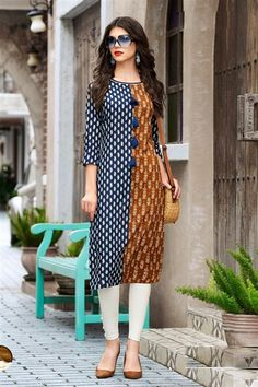 Wholesale Stylish Office Wear Cotton Printed Kurtis Collection