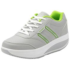 Womens Light Leather Sneakers Grey Size 95 * Want additional info? Click on the image.