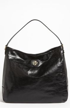Tory Burch 'City' Hobo in black available at #Nordstrom