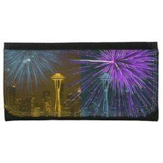 Seattle Space Needle Fireworks Wallets