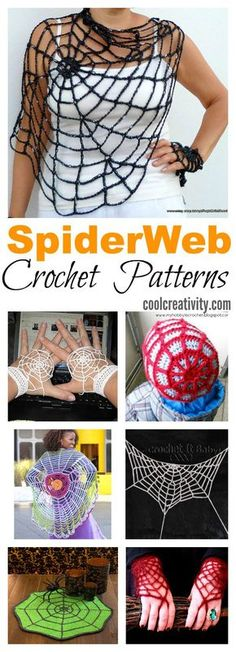 Crochet Blusas Patterns Crochet SpiderWeb Patterns More - Here is a collection of simple and fun Crochet SpiderWeb Patterns that you can use to quickly work up some spiderweb for both costumes and house decoration. Crochet Scarves, Crochet Yarn, Crochet Clothes, Free Crochet, Crochet Crafts, Yarn Crafts, Crochet Projects, Crochet Ideas, Diy Crafts
