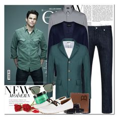 """Style Icon: Matt Bomer"" by coraline-marie ❤ liked on Polyvore featuring Giorgio Armani, Just Cavalli, Bally, Ray-Ban, Bumble and bumble, Lacoste, Gucci, men's fashion and menswear"