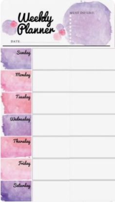 Weekly Planner Template, Weekly Planner Printable, Daily Planner Pages, Study Planner, Bullet Journal Ideas Pages, Bullet Journal Inspiration, Planner Organization, Weekly Planner, School Organisation