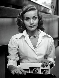 Eva Marie Saint, 1949, photo by Nina Leen for a LIFE magazine story about struggling young actresses in New York