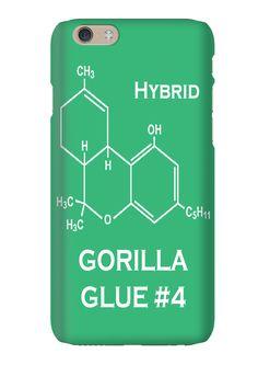 Gorilla Glue 4 Hybrid Strain Weed Marijuana Phone Case