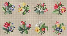 Gallery.ru / Фото #36 - Схемы вышивки крестом - pustelga Tiny Cross Stitch, Cross Stitch Borders, Cross Stitch Flowers, Cross Stitch Designs, Cross Stitching, Cross Stitch Patterns, Silk Ribbon Embroidery, Diy Embroidery, Cross Stitch Embroidery