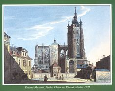Prague Old Paintings, More Pictures, Czech Republic, Time Travel, Big Ben, Notre Dame, 19th Century, World, City