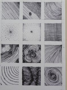 Will be great for my first week of term during our mark-making topic! Abstract Drawings, Pencil Drawings, Art Drawings, Drawing Skills, Drawing Techniques, Art Tutorials, Drawing Tutorials, Texture Drawing, 1 Tattoo