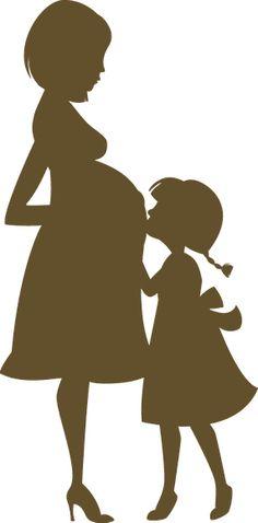 ♔ PREGNANT MOTHER LADY WOMAN WITH CHILD SILHOUETTE SVG #CRICUT, #CRICUTEXPLORE