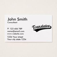 Hello interpreter translator professor languages business card translator business card colourmoves