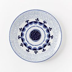 Blue and white glazed porcelain collector's edition plates | west elm