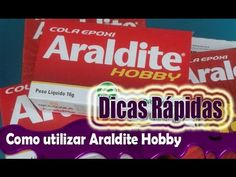 Dicas Rápidas: Como utilizar Cola Araldite Hobby - YouTube
