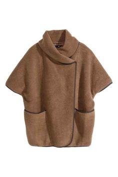 Capa en mezcla de lana