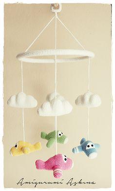 Ravelry: Amigurumi Plane Baby Mobile pattern by Amigurumi Aşkına