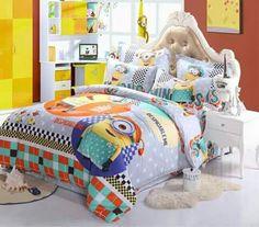 Mi villano favorito plátano Funda nórdica individual cubierta del edredón Juego de cama minions niños