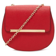 Forever 21 Metal Trim Crossbody (76 PEN) ❤ liked on Polyvore featuring bags, handbags, shoulder bags, faux-leather handbags, red shoulder bag, forever 21 purse, crossbody handbags and red crossbody purse