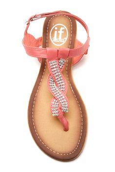 Crystal Embellished Sandal // Carrini