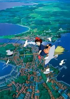 KIKI'S DELIVERY SERVICE - JAPANESE MOVIE FILM WALL POSTER - 30CM X 43CM MAJO NO TAKKYUBIN