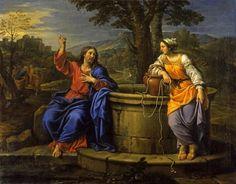 Christ and the Woman of Samaria Date: 1681 .Artist: Pierre Mignard North Carolina Museum of Art