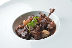"""The French have """"Coq au vin"""" but what can a Belgian forager do with the local wilderness in Southern California? Here it is: Quail cooked in homemade elderberry wine, wild hyacinth bulbs (Dichelostemma pulchellum), onions, several mushrooms found yesterday (oyster, split gill, etc...), raw honey, dehydrated elderberries, CA bay, homemade salt, pink peppercorn, wild mustard seeds, burr-chervil and a few other things. I already ate everything. www.urbanoutdoorskills.com"""