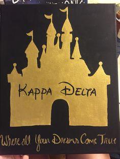 Kappa delta sorority canvas Disney castle