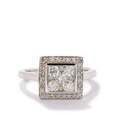 <strong>2</strong> - 1ct Diamond Tomas Rae 9K White Gold Ring