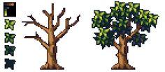 Tutorial - Pixel Art Tree by AlbertoV.deviantart.com on @DeviantArt