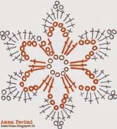 "Crochet Motif Image for ""crochet snowflakes free patterns"" Crochet Snowflake Pattern, Crochet Stars, Crochet Motifs, Crochet Snowflakes, Crochet Flower Patterns, Crochet Diagram, Thread Crochet, Diy Crochet, Crochet Doilies"