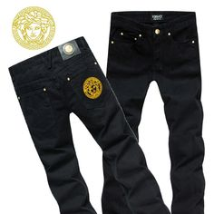 Versace long jeans for men cheap Versace T Shirt, Versace Logo, Versace Shoes, Versace Jeans, Versace Suits For Men, Versace Men Cologne, Swag Outfits Men, Men's Outfits, Casual Outfits