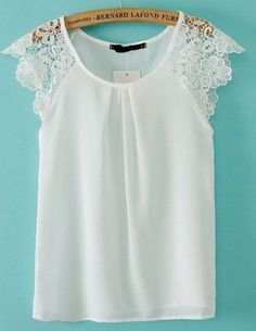 Cheap blusas femininas, Buy Quality blusa feminina casual directly from China blouse brand Suppliers: Women summer lace sleeve blouses chiffon O neck sleeveless Shirt blusa feminina casual slim brand designer tops Mode Top, Look Chic, Mode Inspiration, Lace Sleeves, Dress Patterns, African Fashion, Blouse Designs, Ideias Fashion, Fashion Dresses