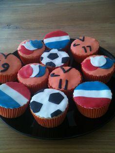dutch soccer cupcakes