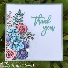 Hello again, it's time for a new challenge at Sweet Stampin' and this week we have the lovely theme of 'Thank You' cards. I try to encourag. Watercolor Birthday Cards, Birthday Card Drawing, Watercolor Cards, Cool Cards, Cute Thank You Cards, Altenew Cards, Card Making Inspiration, Copics, Card Kit