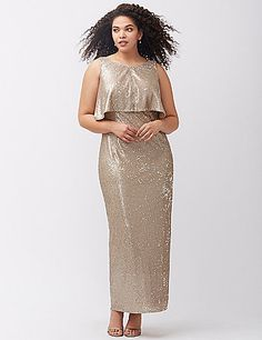 cdf13fa6d60 Stunning sequin gown by ABS Allen Schwartz puts all eyes on you with its  vintage-