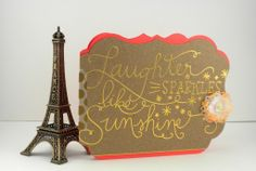 Laughter sparkles like sunshine card