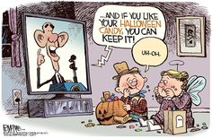 Rick McKee - The Augusta Chronicle - Obama Candy COLOR - English - Obamacare, Halloween, candy, Obama