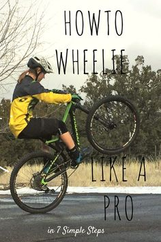 Learn how to wheelie a bike in 7 simple steps. This essential mountain biking skill is used to clear obstacles and as cool bike trick.