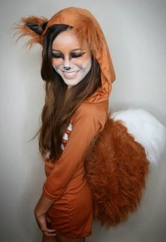 karneval kostüm selber machen süßes eichhörnchen
