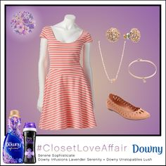 This Serene Sophisticate look was inspired by Downy Infusions Lavender Serenity and Downy Unstopables Lush. The soothing tones of peachy pink create an effortlessly appealing look! To shop this look, visit the LC Lauren Conrad collection available only at Kohl's. To register for the #ClosetLoveAffair sweepstakes visit https://downy.promo.eprize.com/pinterest/.