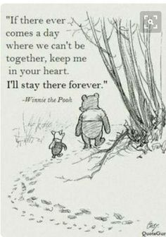 Wisdoms of the Pooh Bear: I think we dream so we don't have to be apart for so long. If we're in each other's dreams, we be together all the time. ~ Winnie the Pooh Cute Quotes, Great Quotes, Short Quotes, Funny Quotes, Top Quotes, Quotes Inspirational, Inspirational Quotes About Friendship, Friendship Goodbye Quotes, Life Long Friendship Quotes