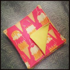Set of 8 Flannel and Terry Cloth Wipes by HandmadeforHarper, $15.00