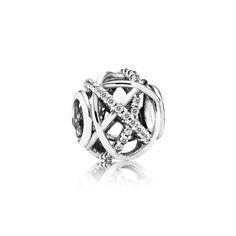 Pandora Silver & Cubic Zirconia Openwork Abstract Charm