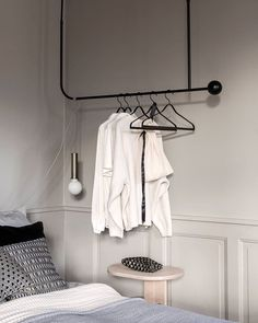 Make the best use of the space you have available. The Pujo Hanging Coat Rack offers a small design but with plenty of room for shirts and dresses. –