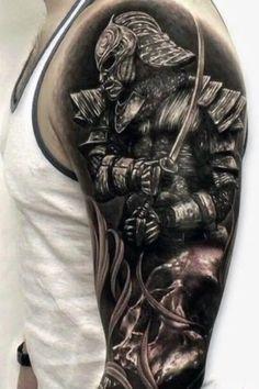 Forarm Tattoos, Top Tattoos, Body Art Tattoos, Sleeve Tattoos, Tatoos, Samurai Tattoo Sleeve, Gladiator Tattoo, Spartan Tattoo, Creepy Tattoos