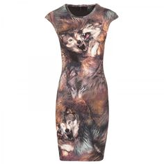 Want this. . Can't afford it. . . Wolf print stretch-jersey dress_BKOT_10