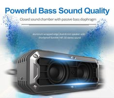 New 3D Stereo Bluetooth Speaker Waterproof Outdoor Wireless Subwoofer – Smart Moderns Waterproof Bluetooth Speaker, Bluetooth Speakers, Outdoor Speakers, Surround Sound, Your Music, The Unit, 3d