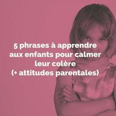 5 phrases à apprendre aux enfants pour calmer leur colère (+ attitudes parentales). La colère est une émotion intense qui submerge les enfants, déconnectant les fonctions supérieures de leur cerveau (cortex préfrontal) et les privant ainsi de leur capacité d'apprentissage et de raisonnement. C'est l'immaturité de leur cerveau qui...