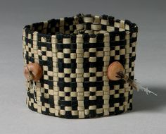Bracelet, late 19th–early 20th century |    Nauruan people, Nauru, Caroline Islands  | Fiber, coral beads, traces of feathers