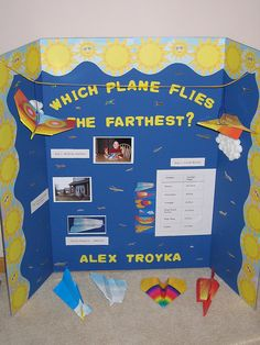 Science Fair Please Like, Share. Also could use different types of frisbees 5th Grade Science, Stem Science, Easy Science, Science Experiments Kids, Teaching Science, Science For Kids, Science Activities, Science Facts, Science Fair Board