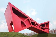 Bridging Teahouse , one of 17 pavilions in Jinhua Architecture Park, Zhejiang, China / FR-EE / Fernando Romero Enterprise